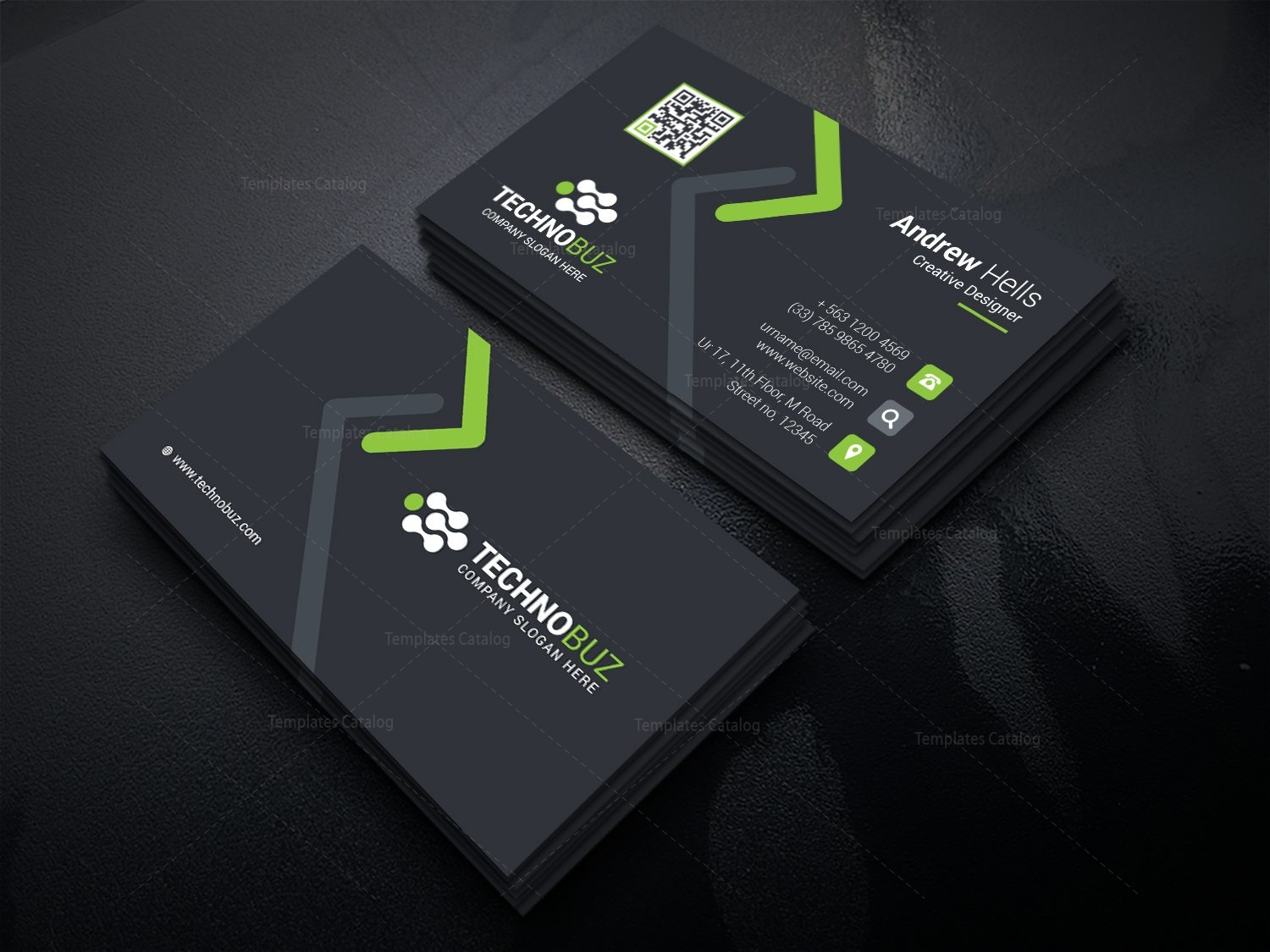 High tech company business card template 000736 template catalog high tech company business card template 5 cheaphphosting Image collections