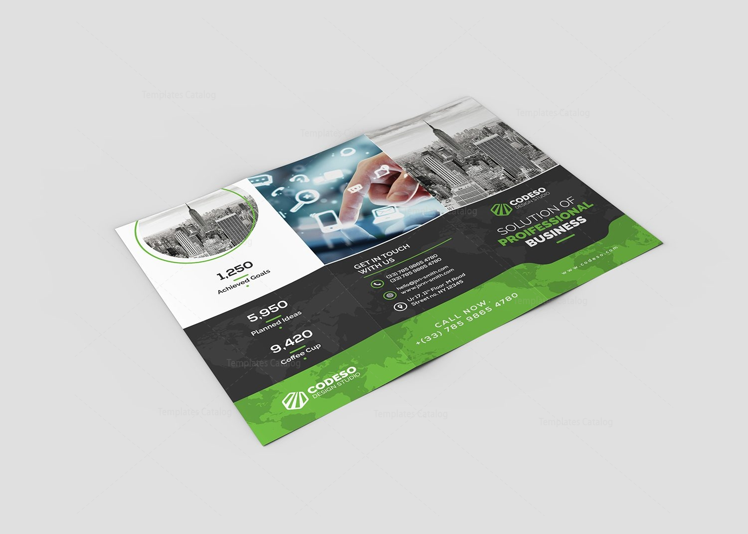 Holly corporate tri fold brochure template 000776 for Corporate tri fold brochure template