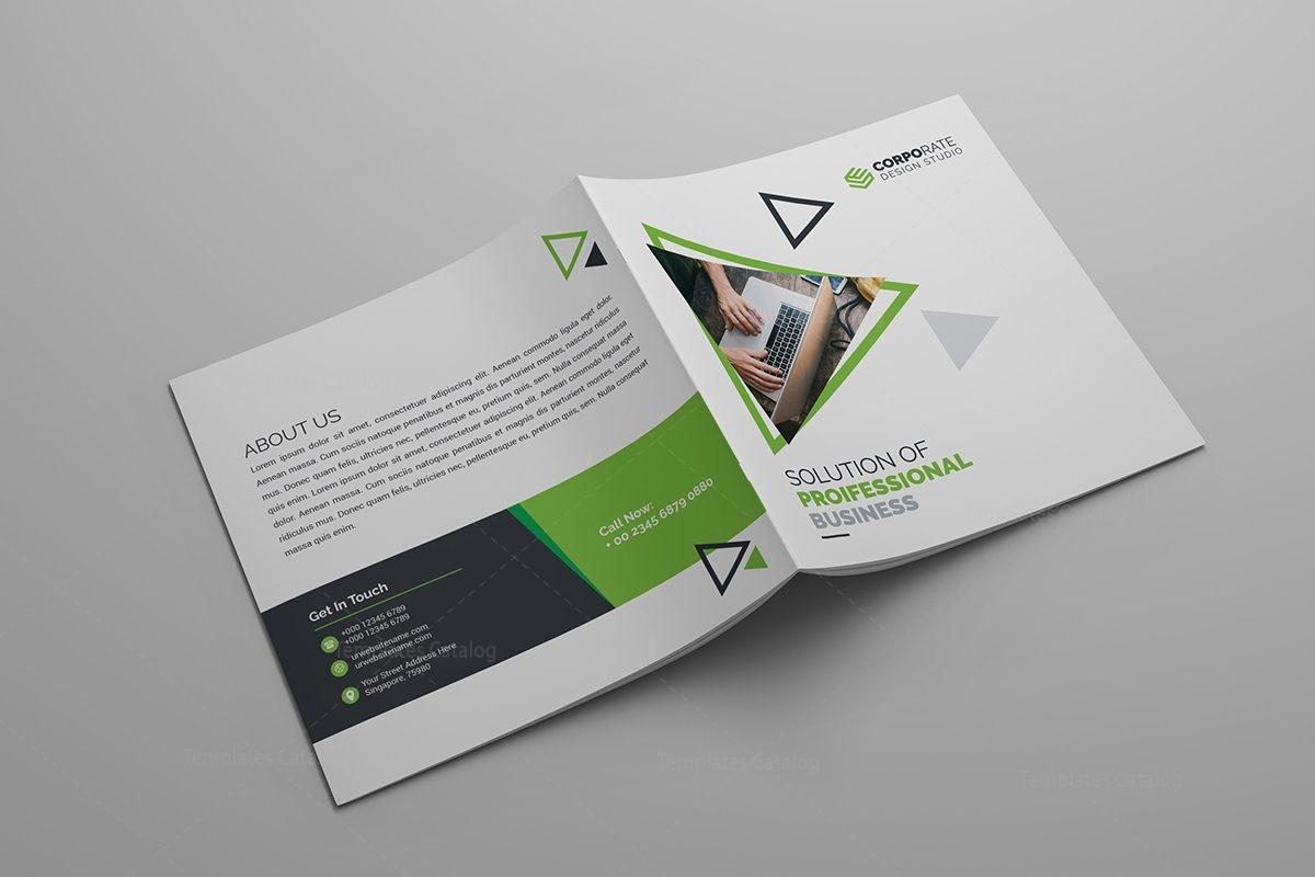 corporate bi fold brochure template - iris plain corporate bi fold brochure template 12