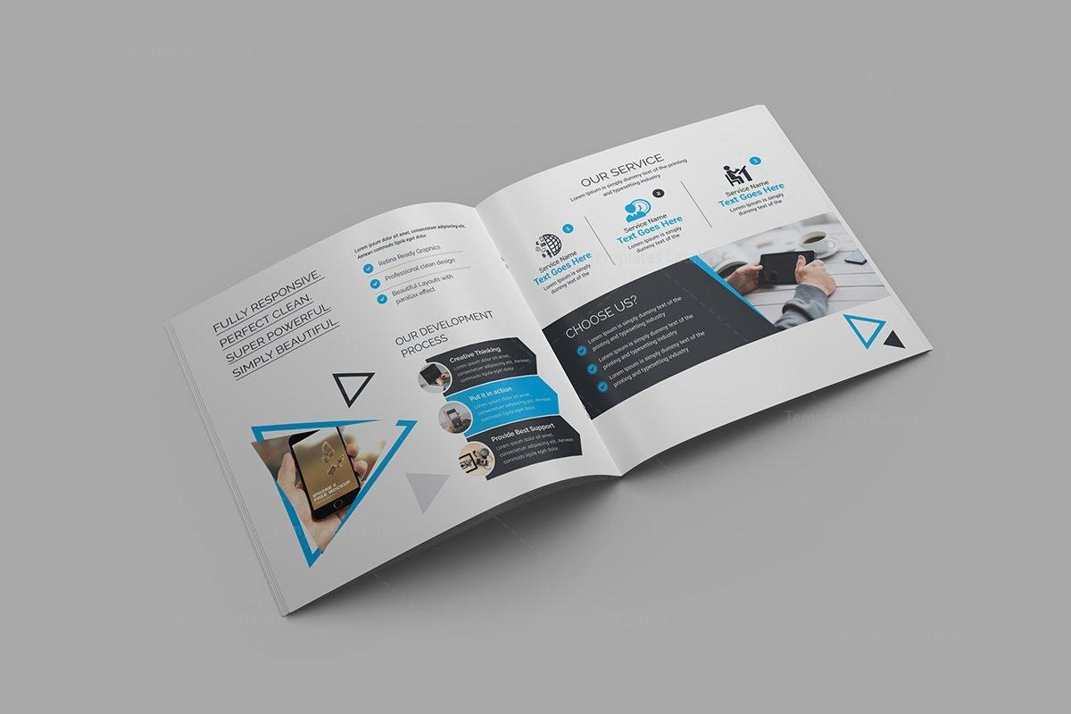 plain brochure template - iris plain corporate bi fold brochure template 8