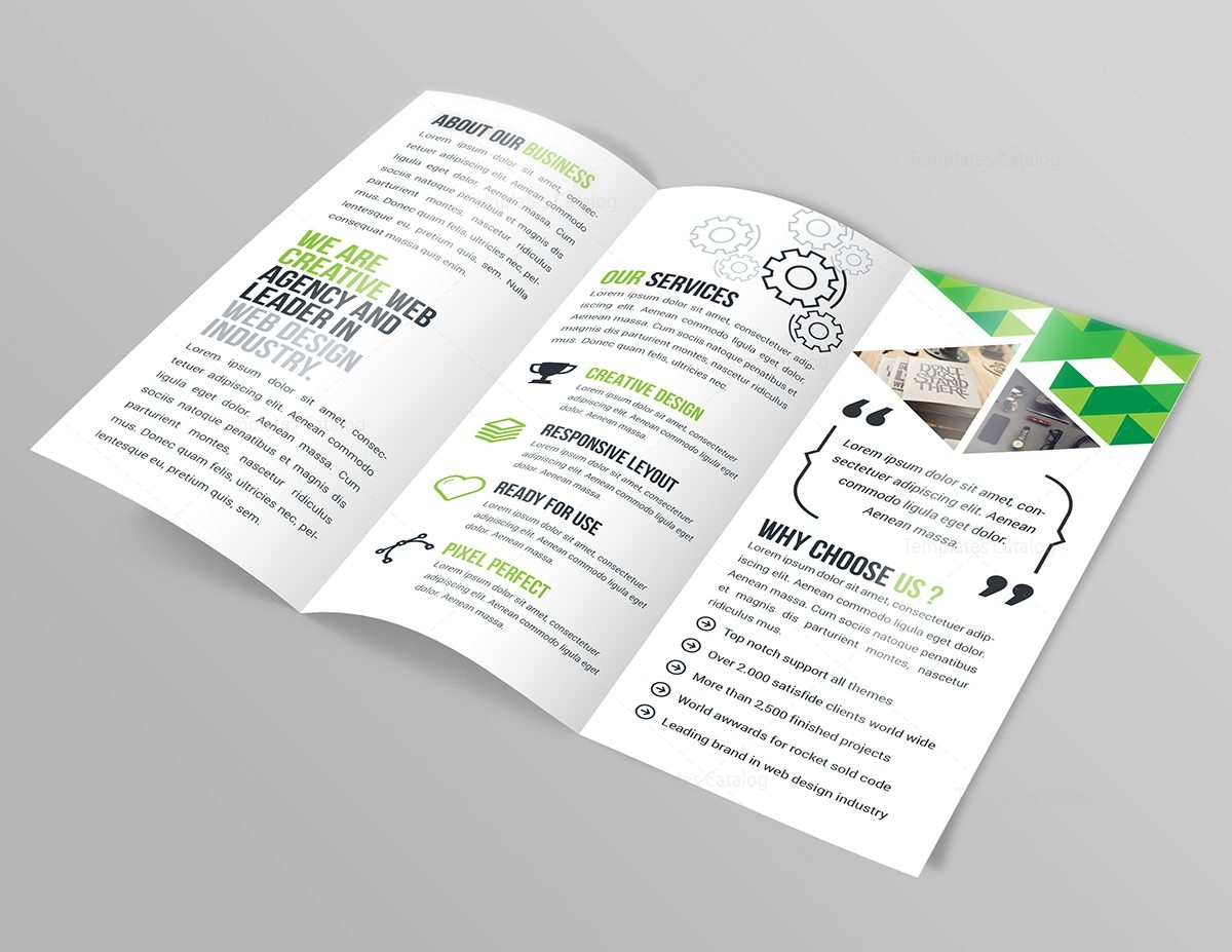 Jasmine corporate tri fold brochure template 000773 for Corporate tri fold brochure template