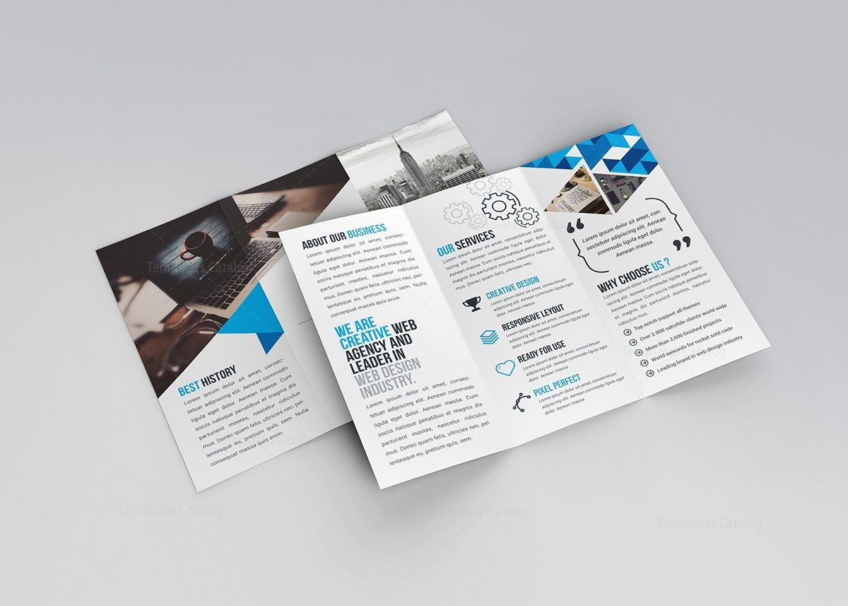 Jasmine corporate tri fold brochure template 000773 for Folded brochure template