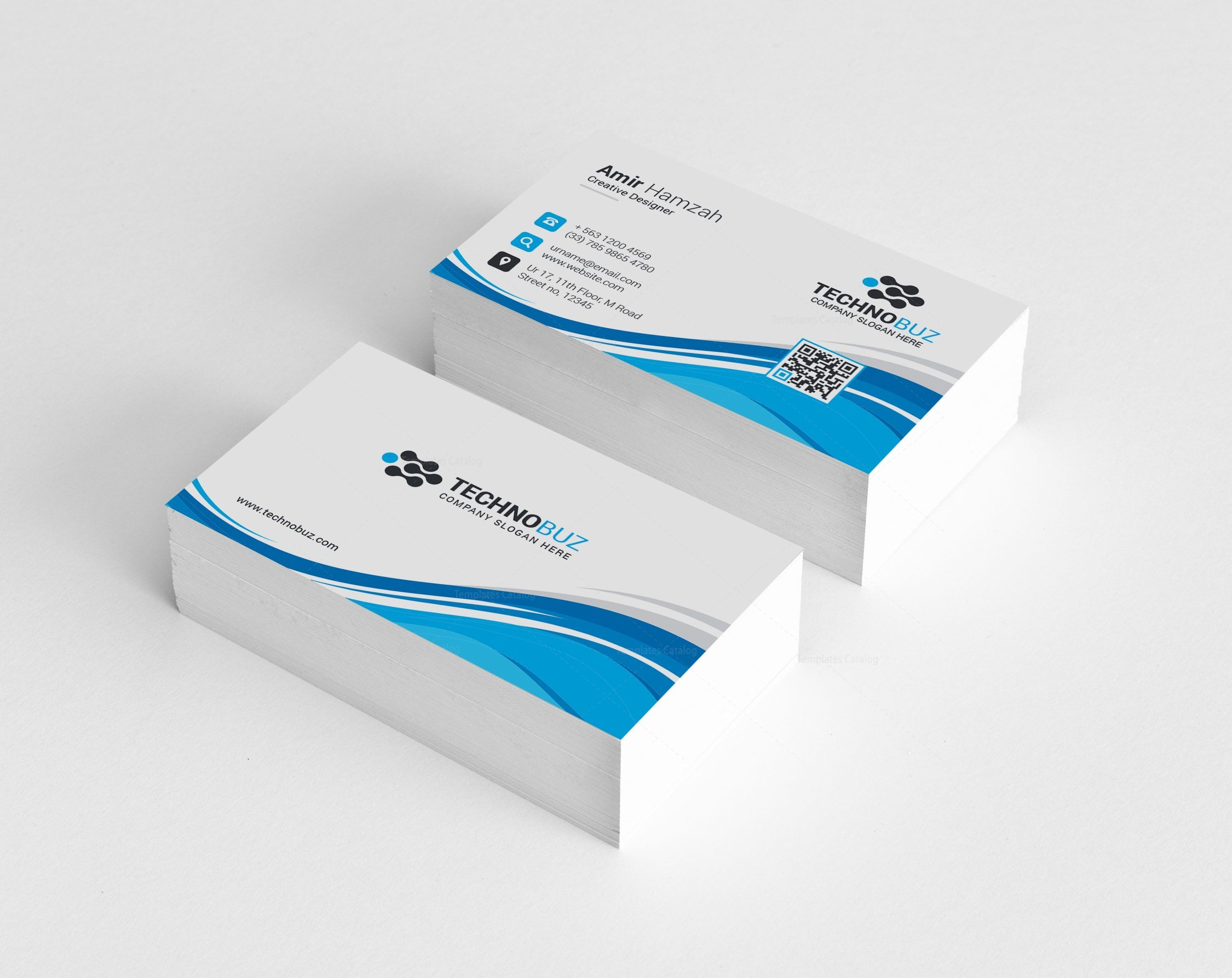 Leo Premium Corporate Business Card Template 000808 - Template Catalog