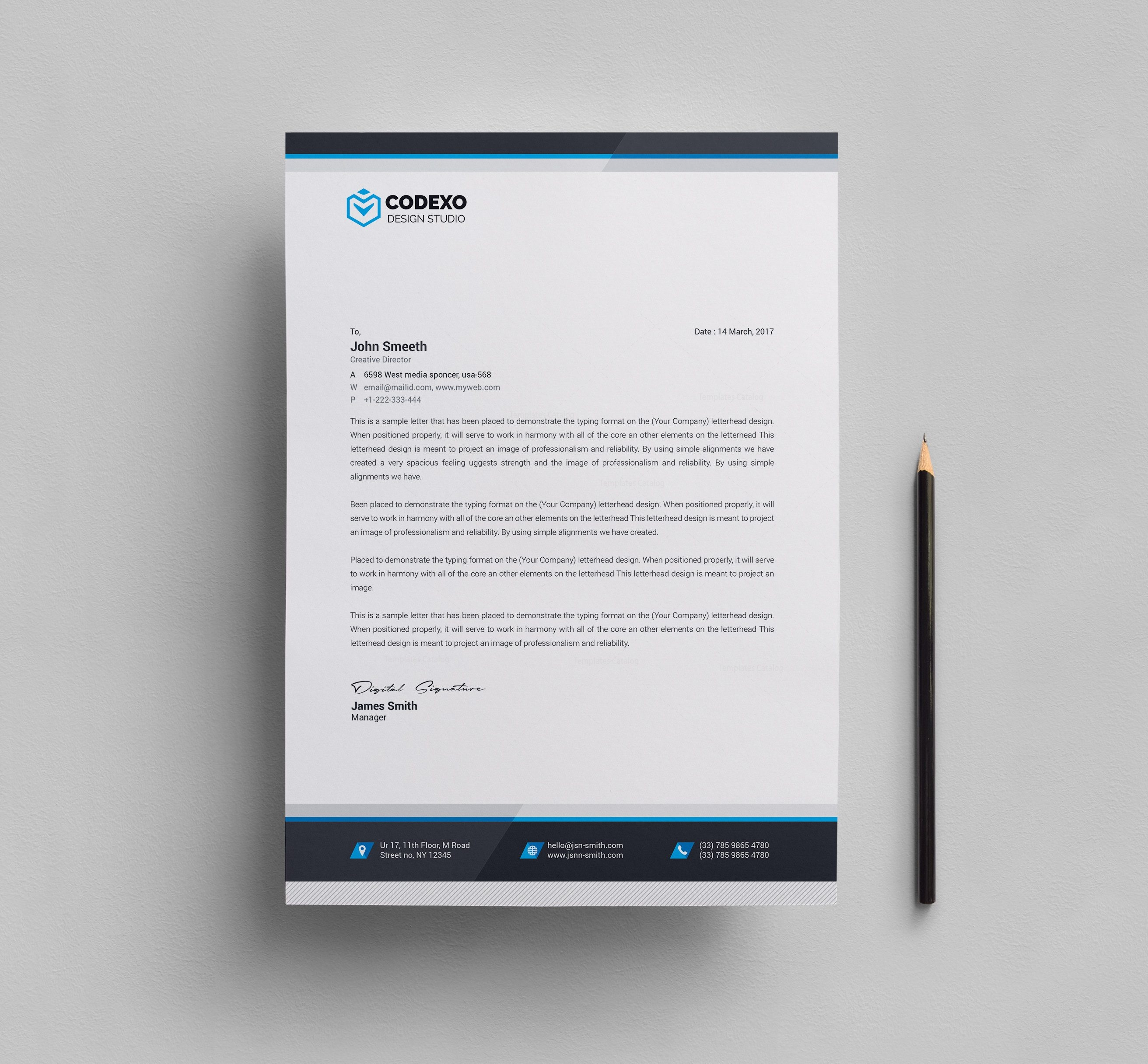 Letterhead design templates 000610 template catalog for Copy brief template