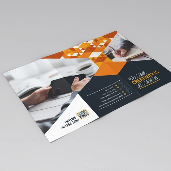 Lily Tri Fold Corporate Brochure Template 000772 Template Catalog