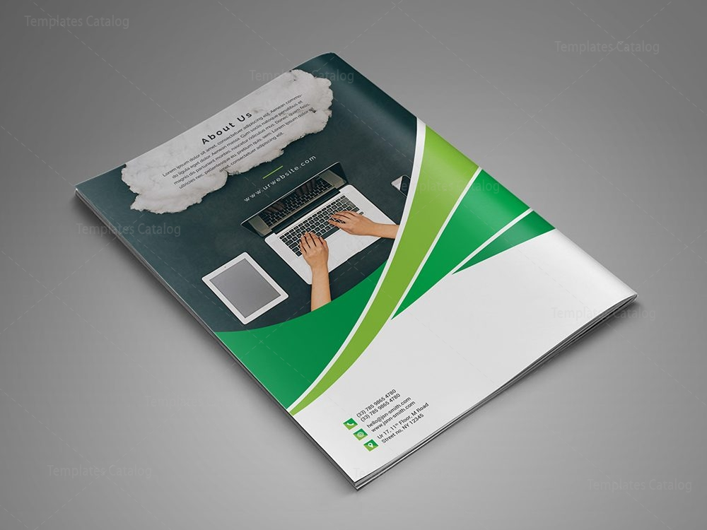 bi fold brochure design templates - modern business bi fold brochure design template 000729