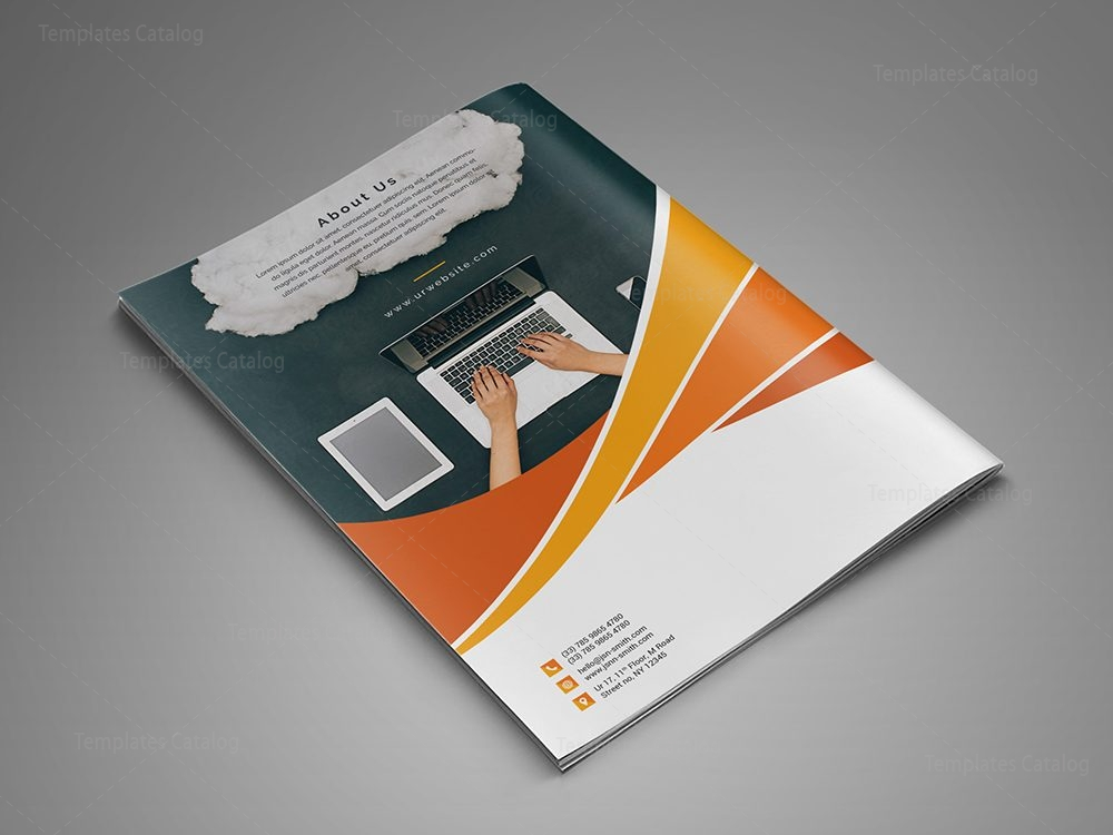 Modern business bi fold brochure design template 000729 for Custom brochure design