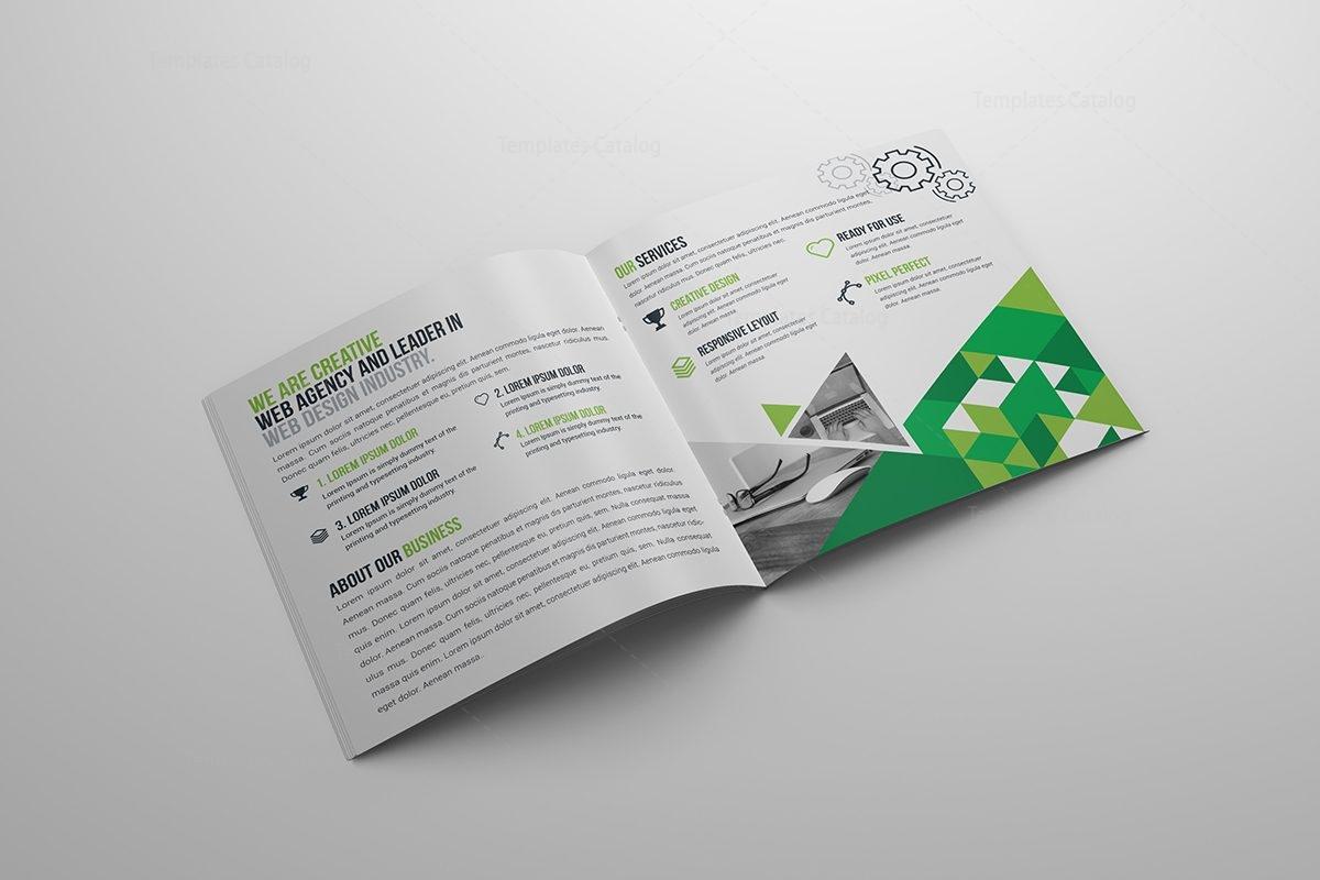 premium brochure templates - modern premium square brochure template 000617 template
