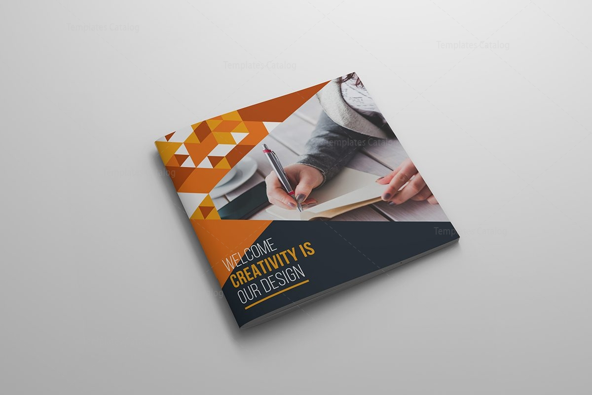 Modern Premium Square Brochure Template 000617 - Template Catalog