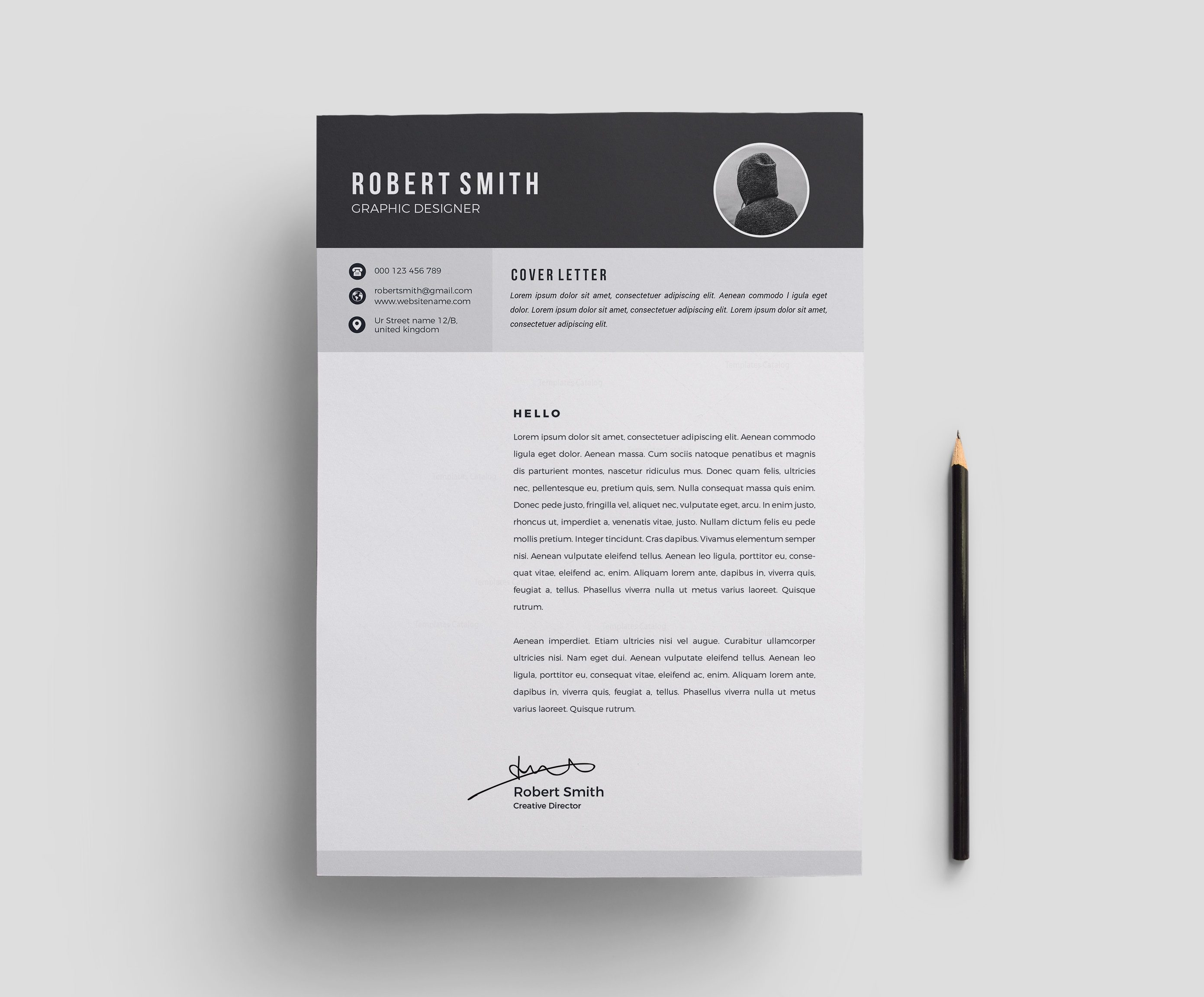 Modern Resume Template Design 000699 - Template Catalog