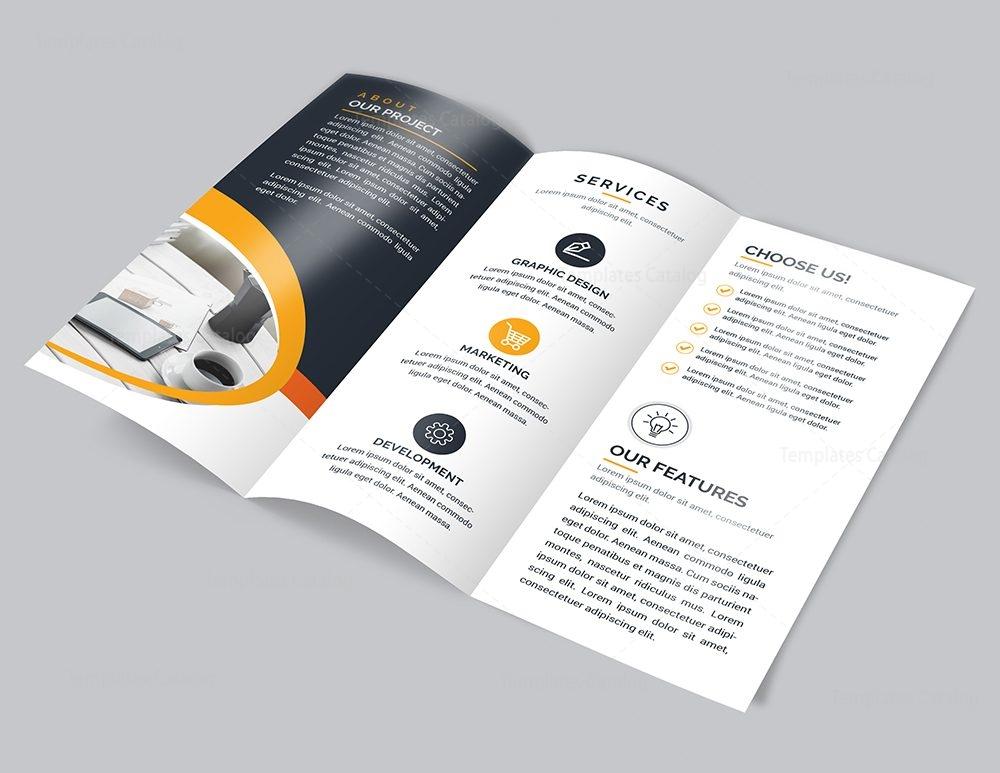 modern brochure template - modern tri fold brochure template 000733 template catalog