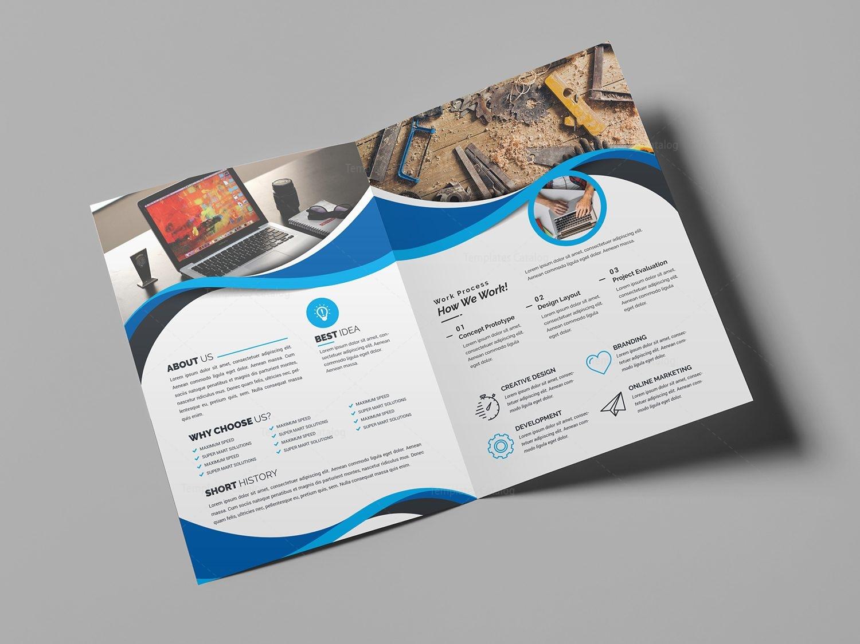 Moonstone professional bi fold brochure template 000725 for Professional brochure template