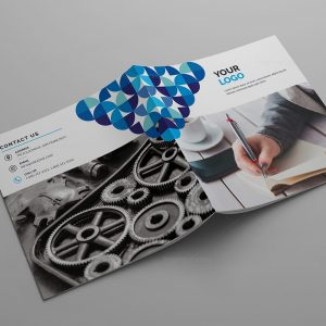 Nemesis Corporate Bi-Fold Brochure Template