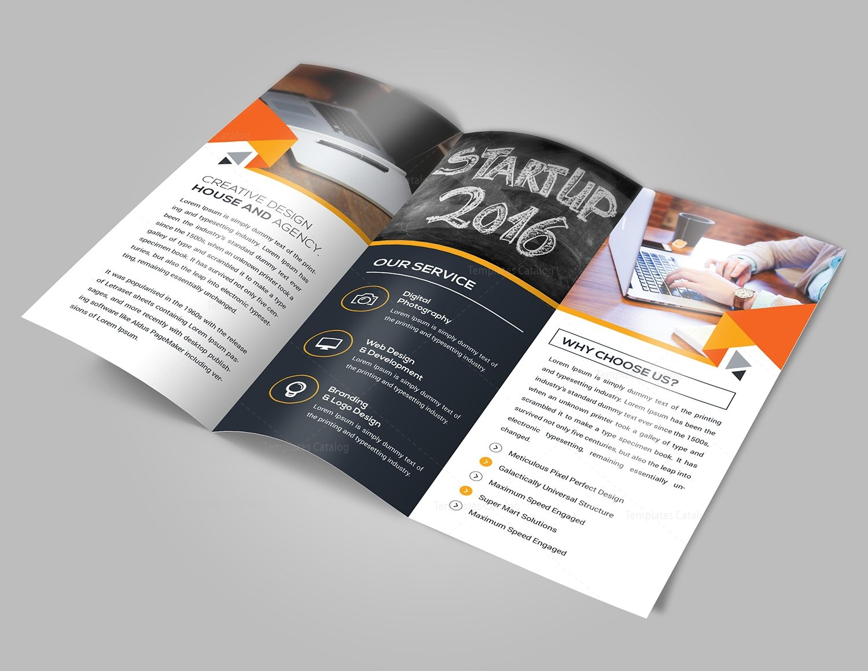 New Idea Tri-Fold Brochure Template 000732 - Template Catalog