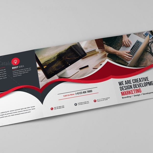 Ocean Corporate Tri-Fold Brochure Template 9