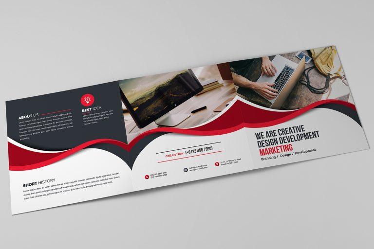 Ocean Corporate Tri-Fold Brochure Template 9