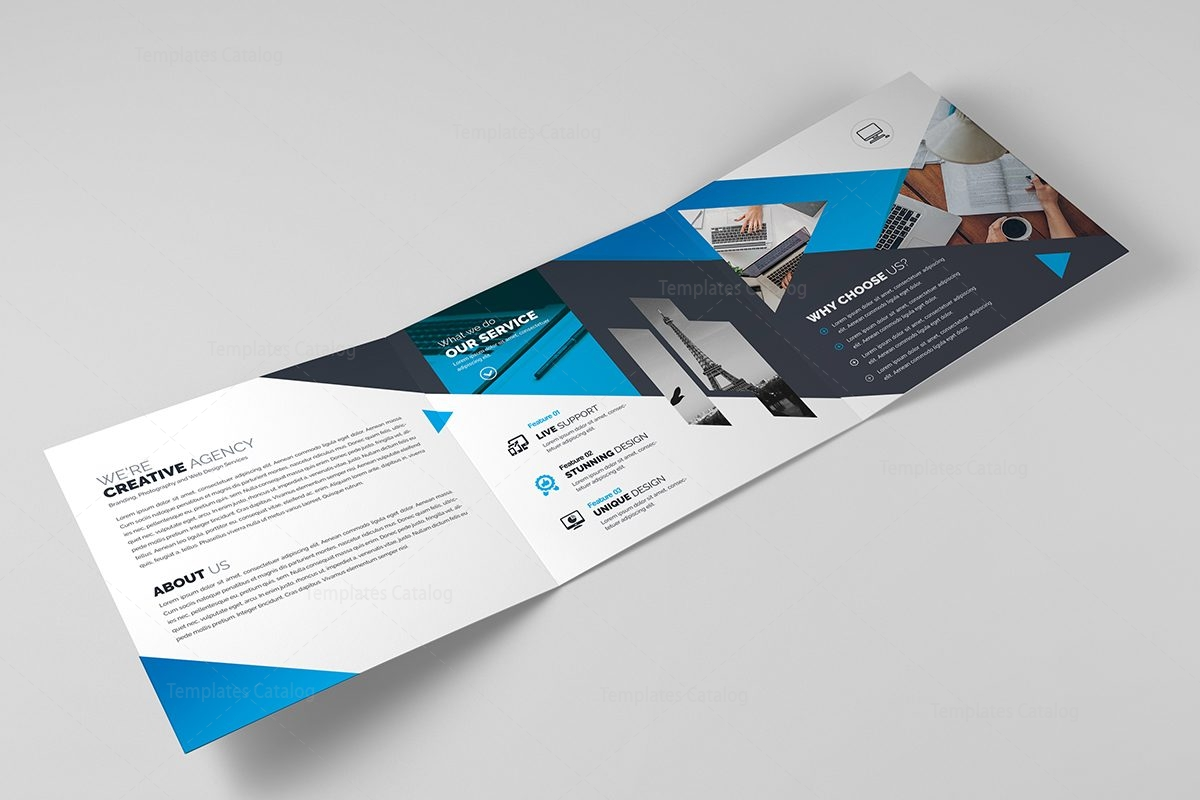 Polaris elegant corporate tri fold brochure 000675 for Elegant brochure templates