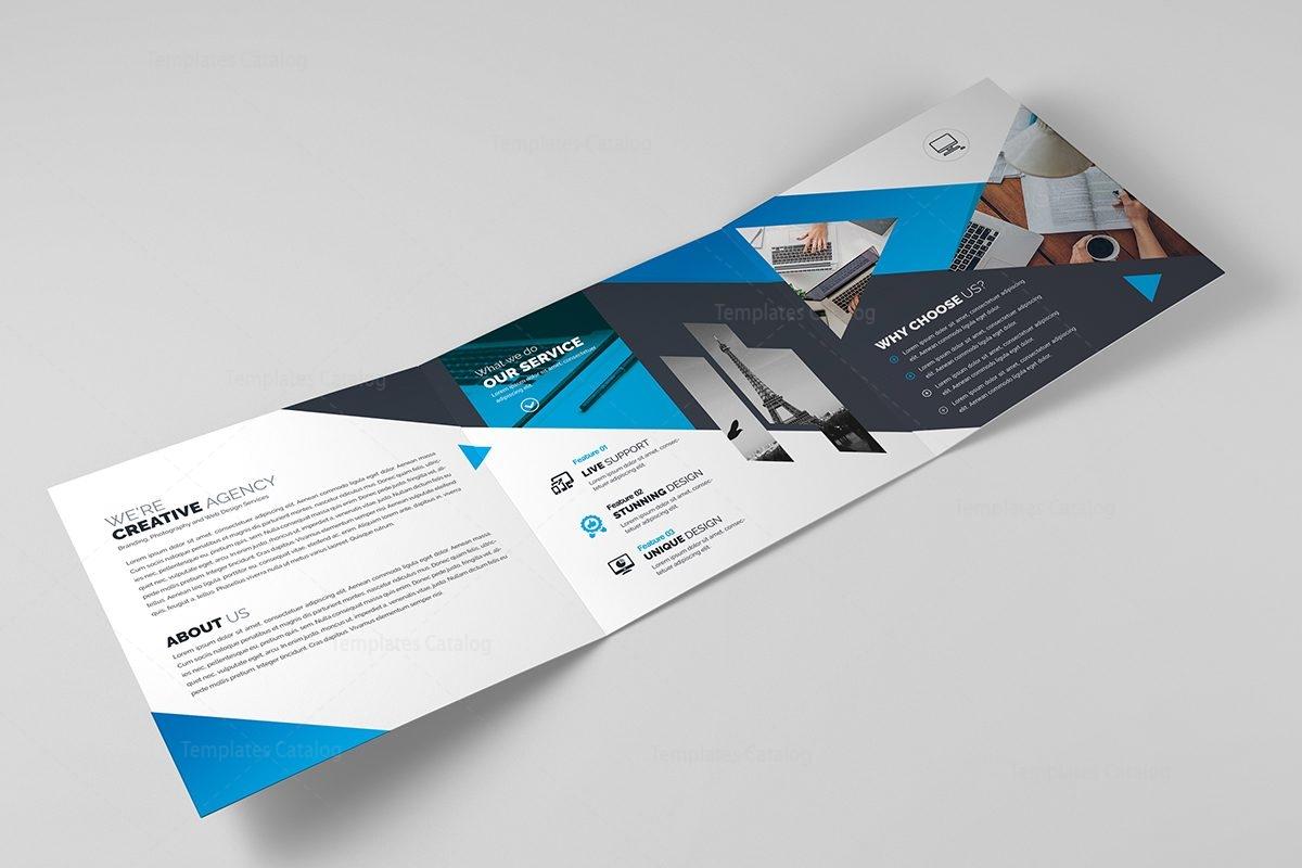 classy brochure design - polaris elegant corporate tri fold brochure 000675