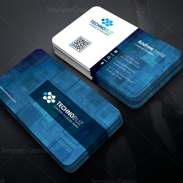 pollux technology corporate business card template 000765