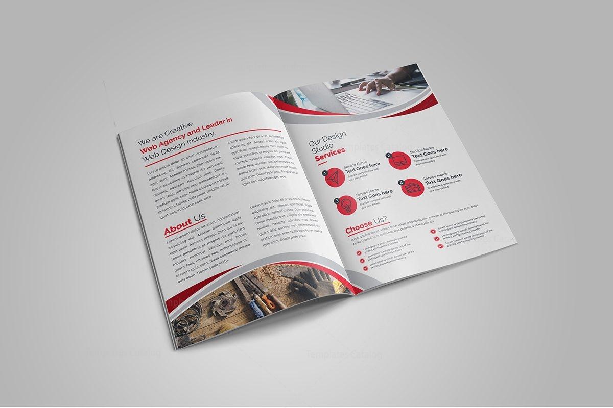 premium brochure templates - premium elegant bi fold brochure design 000714 template