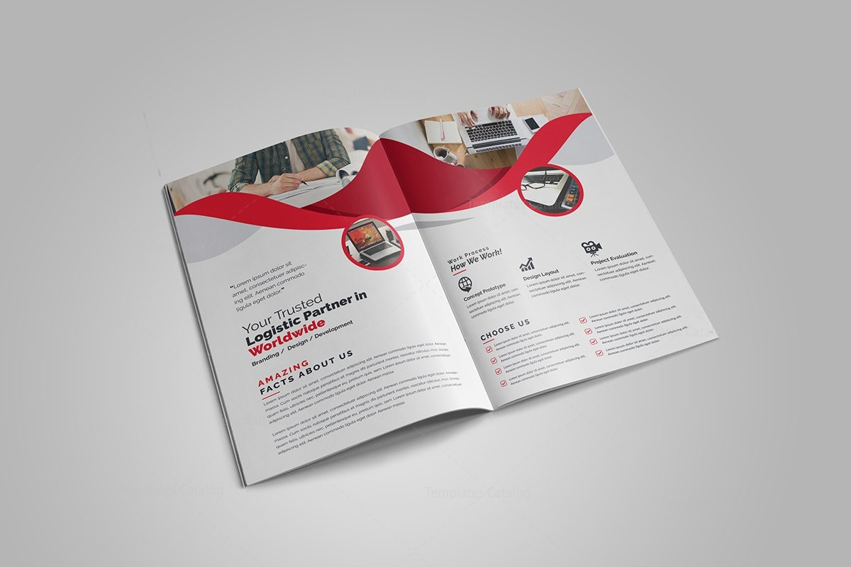 2 fold brochure template - professional business bi fold brochure template 000726