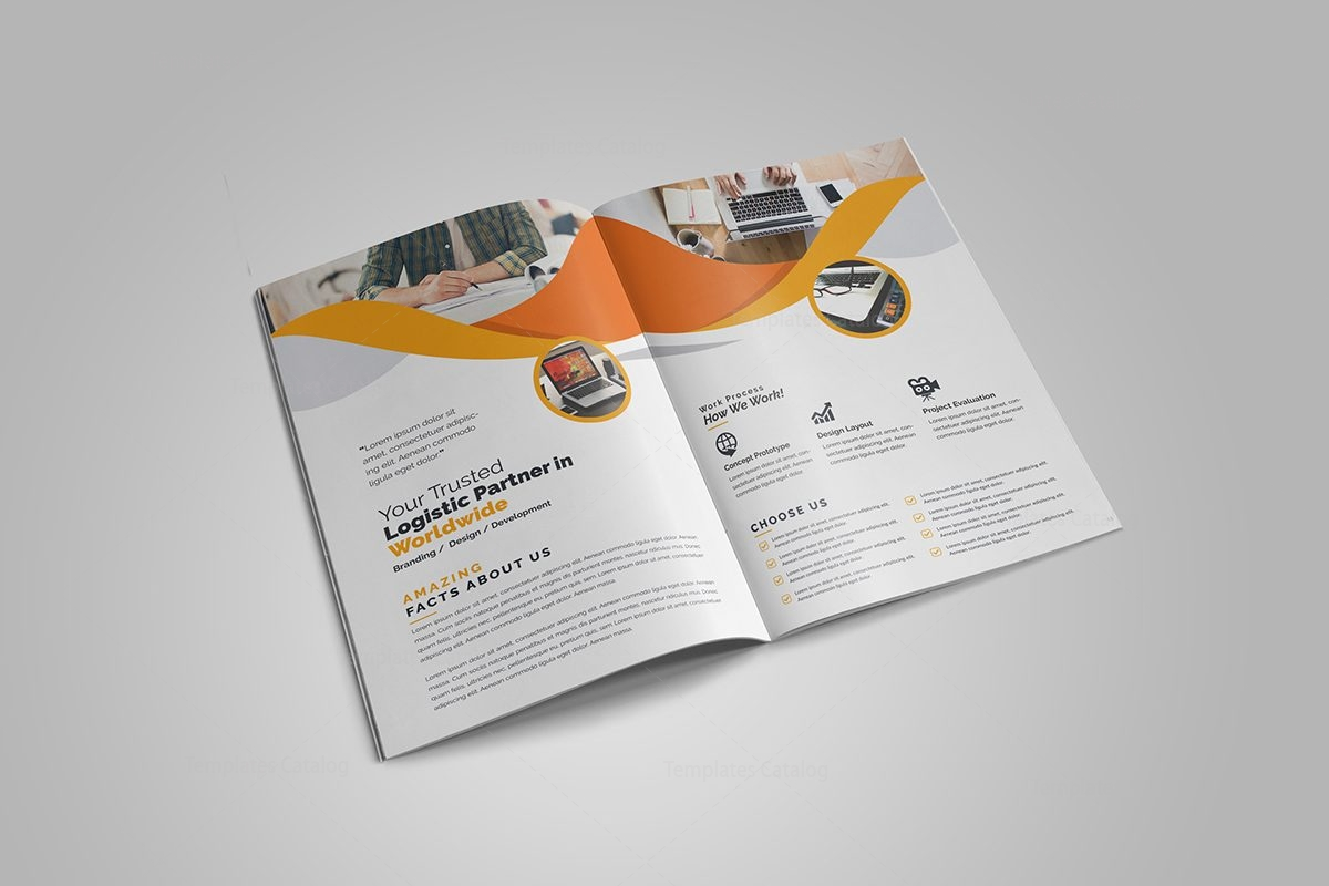 5 fold brochure template - professional business bi fold brochure template 000726