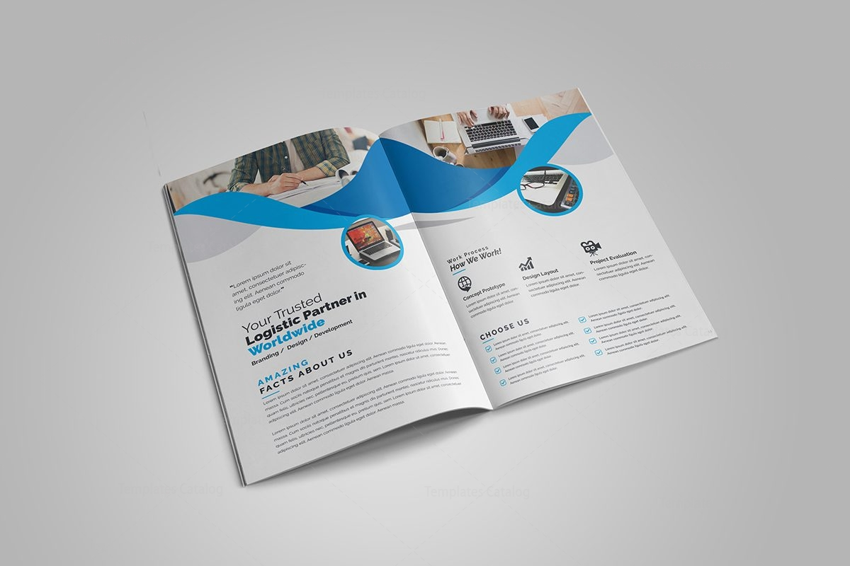 Professional business bi fold brochure template 000726 for Corporate bi fold brochure template
