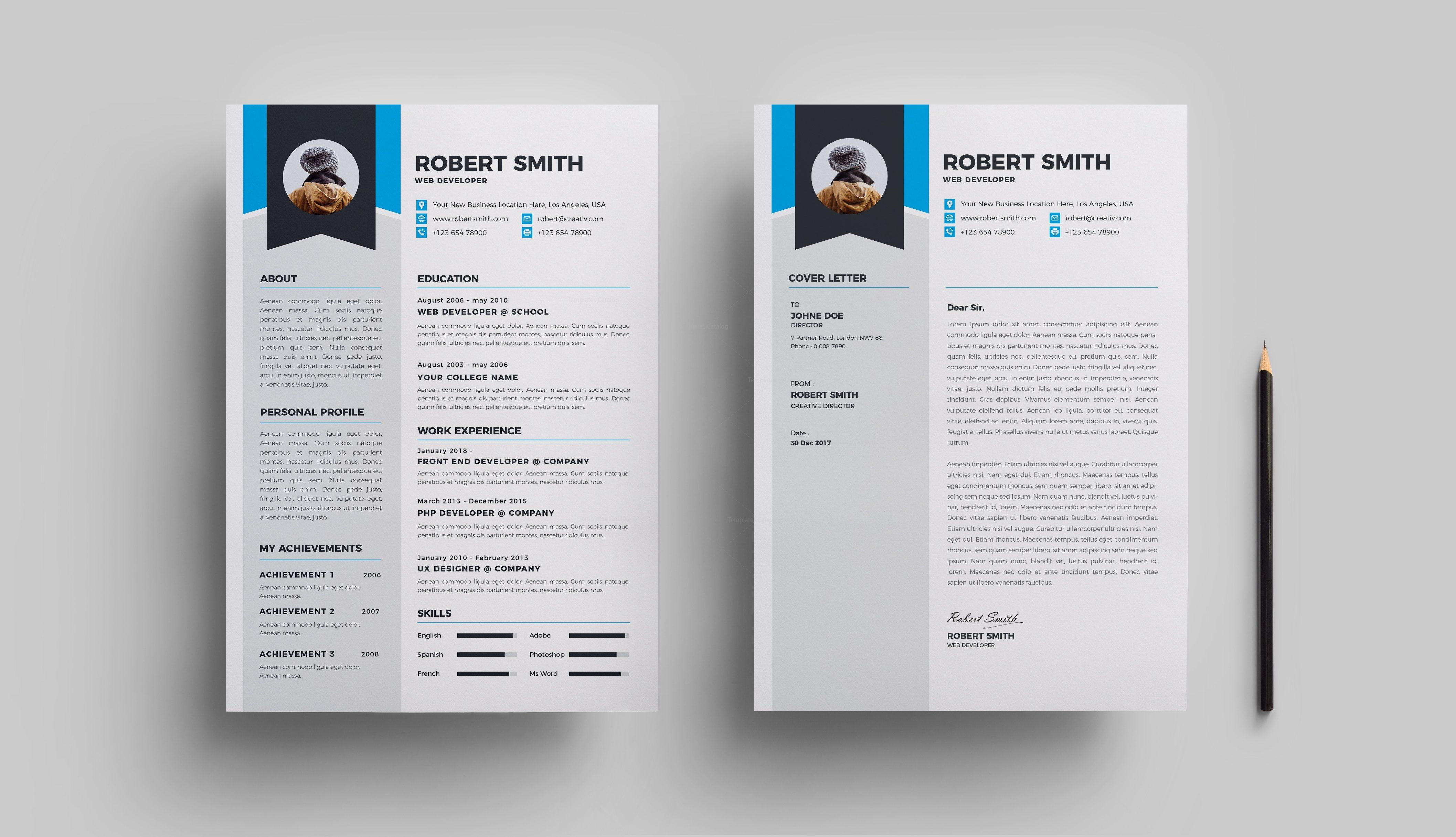 professional premium resume template 000707