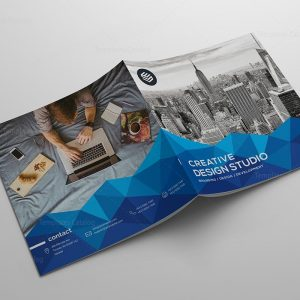 Pyramid Creative Bi-Fold Brochure Template