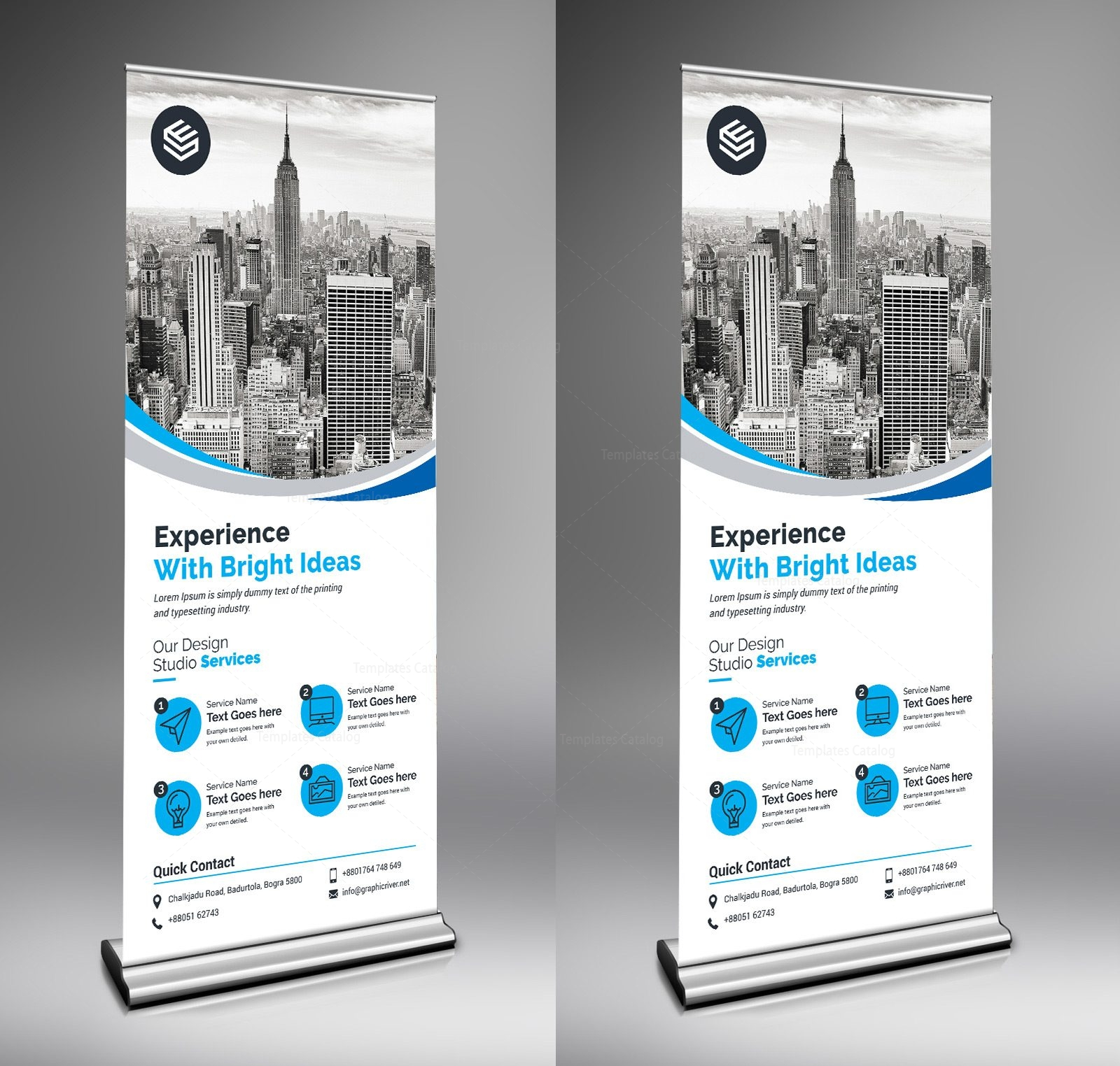 Rigel Creative Roll Up Banner Template 000679