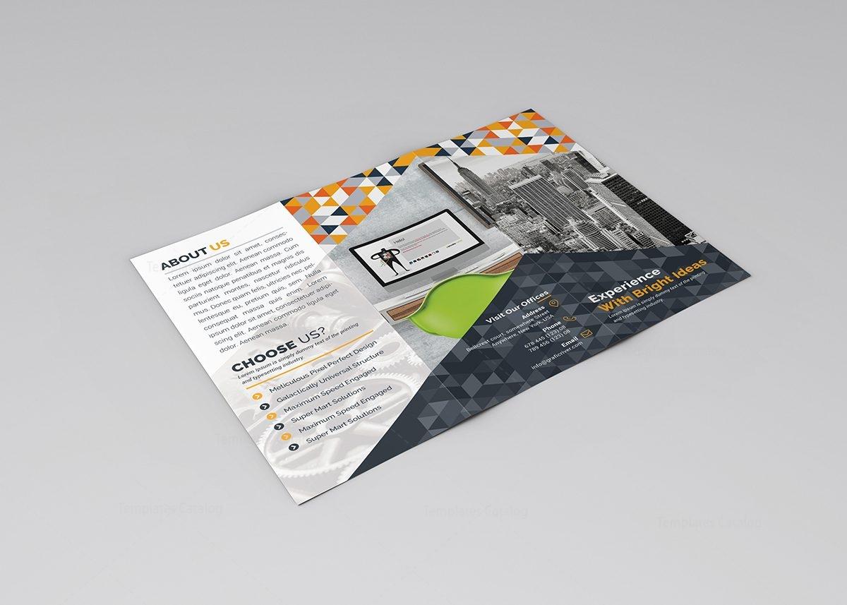 5 fold brochure template - samantha tri fold corporate brochure template 000771