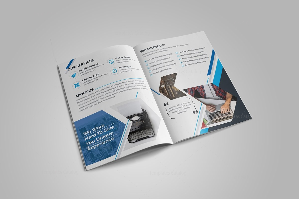 Sapphire bi fold brochure template 000717 template catalog for Free bi fold brochure template 2