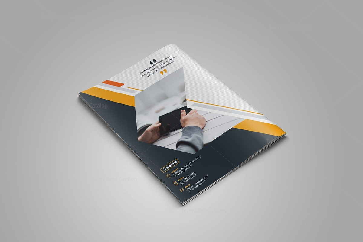 sapphire bi fold brochure template 6