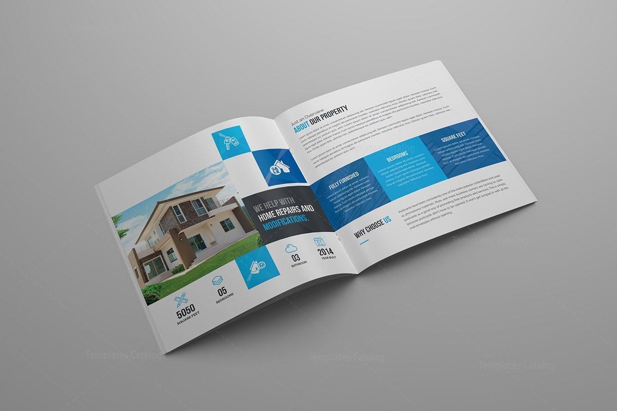Scorpio Premium Square BiFold Brochure Template Template - Bi fold brochure templates