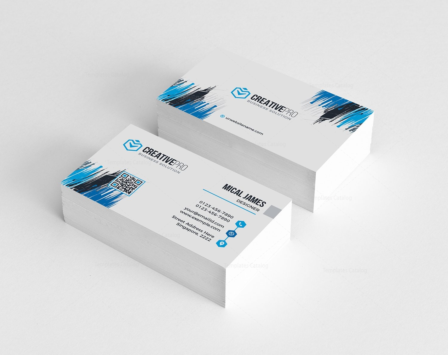 Sharp Professional Business Card Template 000782 - Template Catalog
