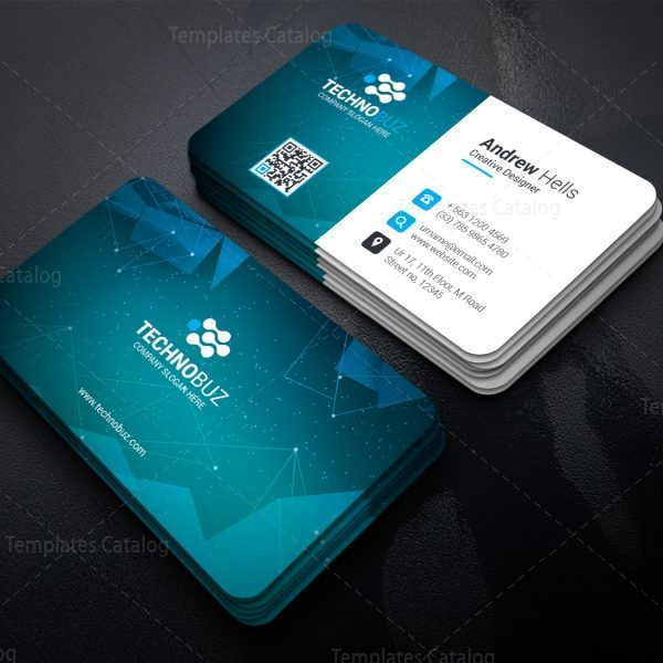space technology business card template 000752 template