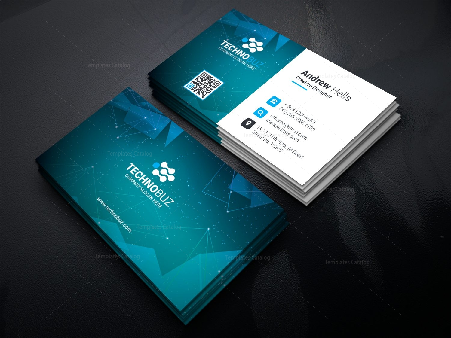 Space technology business card template 000752 template catalog space technology business card template 2 cheaphphosting Image collections