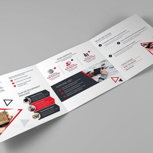 Spectrum Corporate Tri-Fold Brochure Template 2