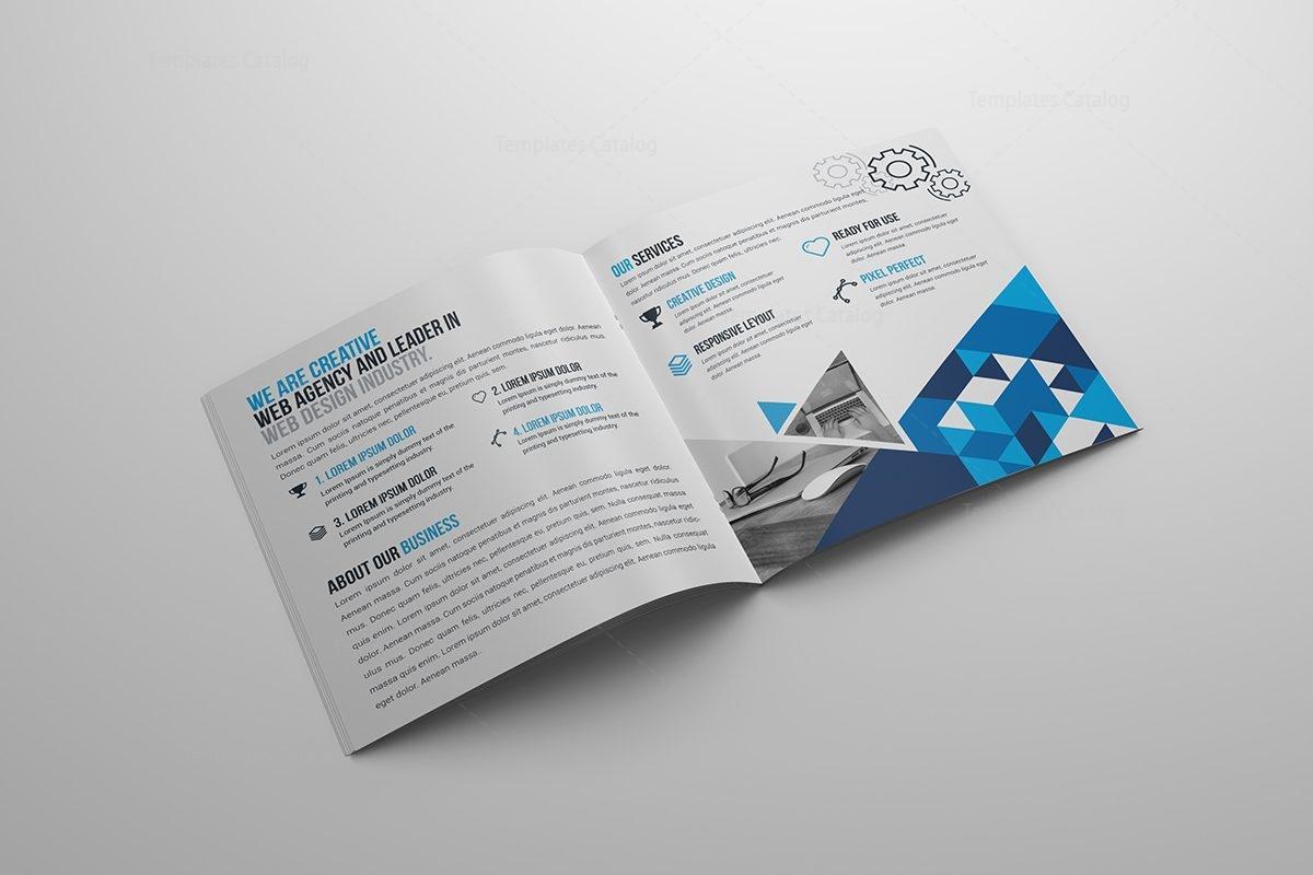 corporate bi fold brochure template - stylish business bi fold brochure template 000798