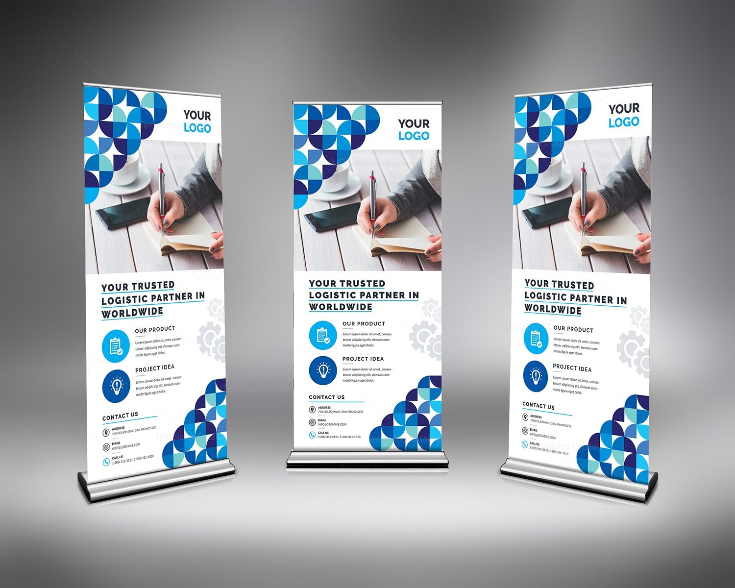 Stylish Clean Roll Up Banner Template 000689 - Template Catalog