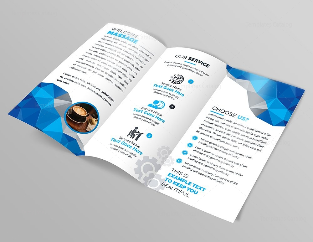 Stylish Modern TriFold Brochure Template Template Catalog - Modern brochure template
