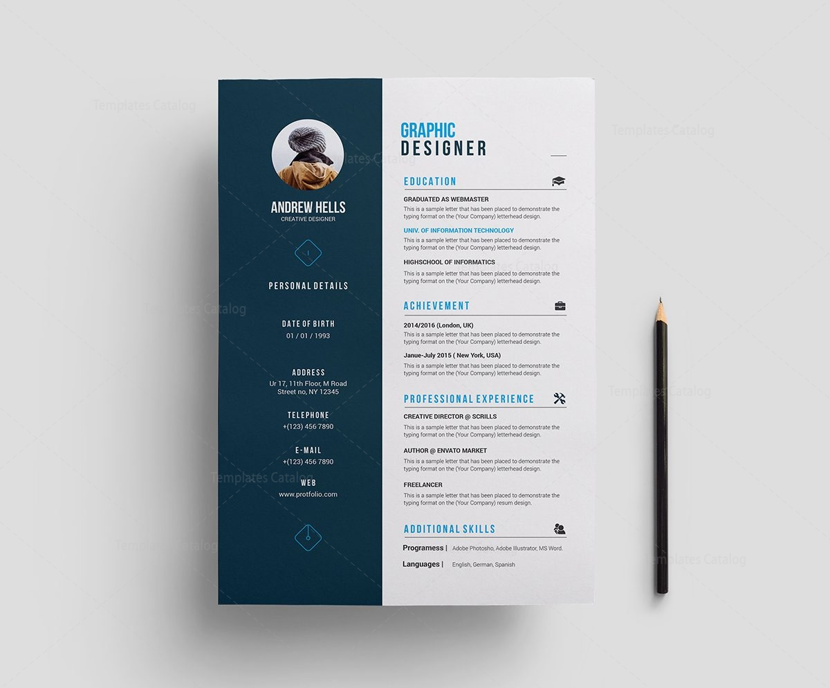stylish premium resume template 000702