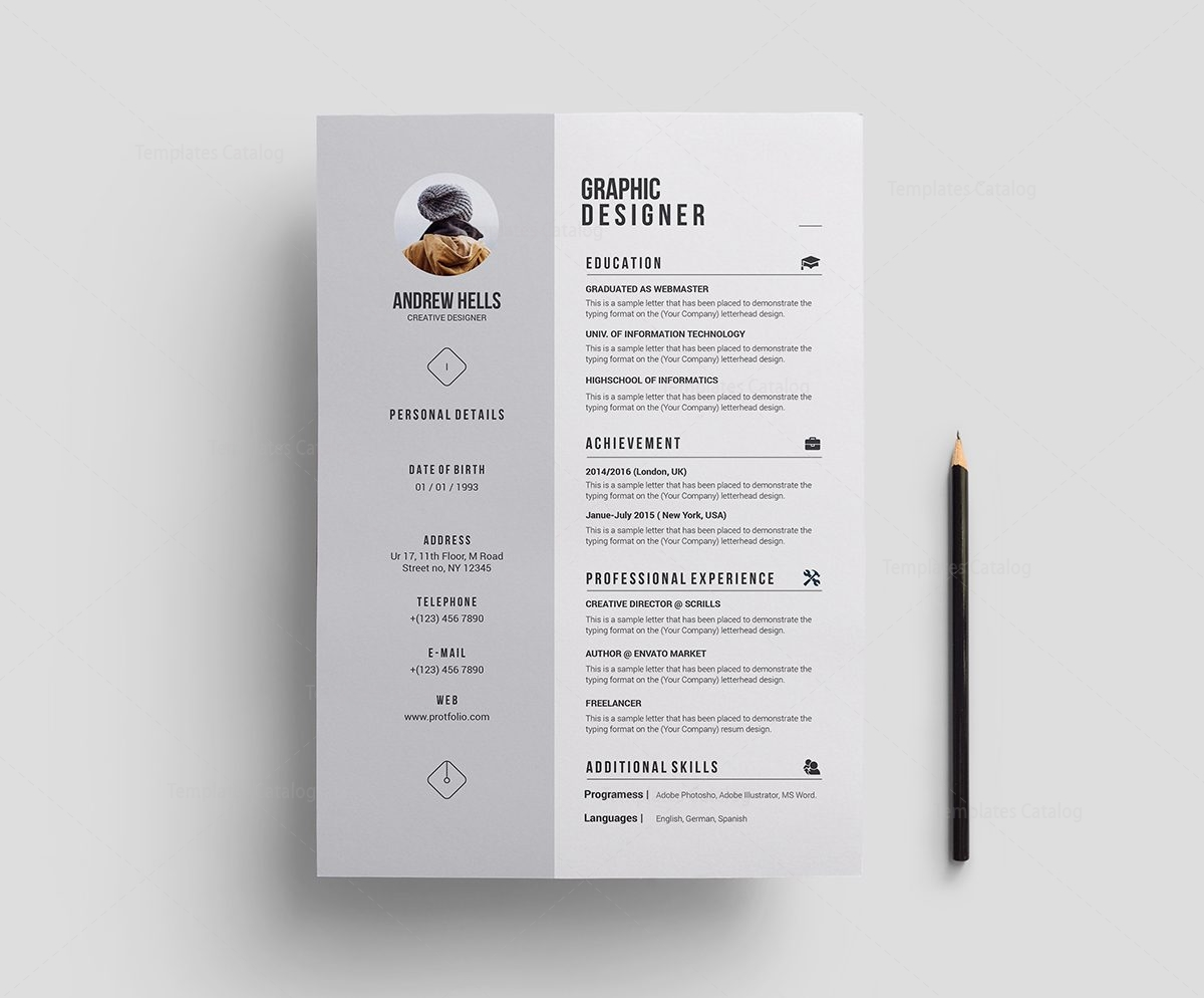 Stylish Premium Resume Template 000702 - Template Catalog
