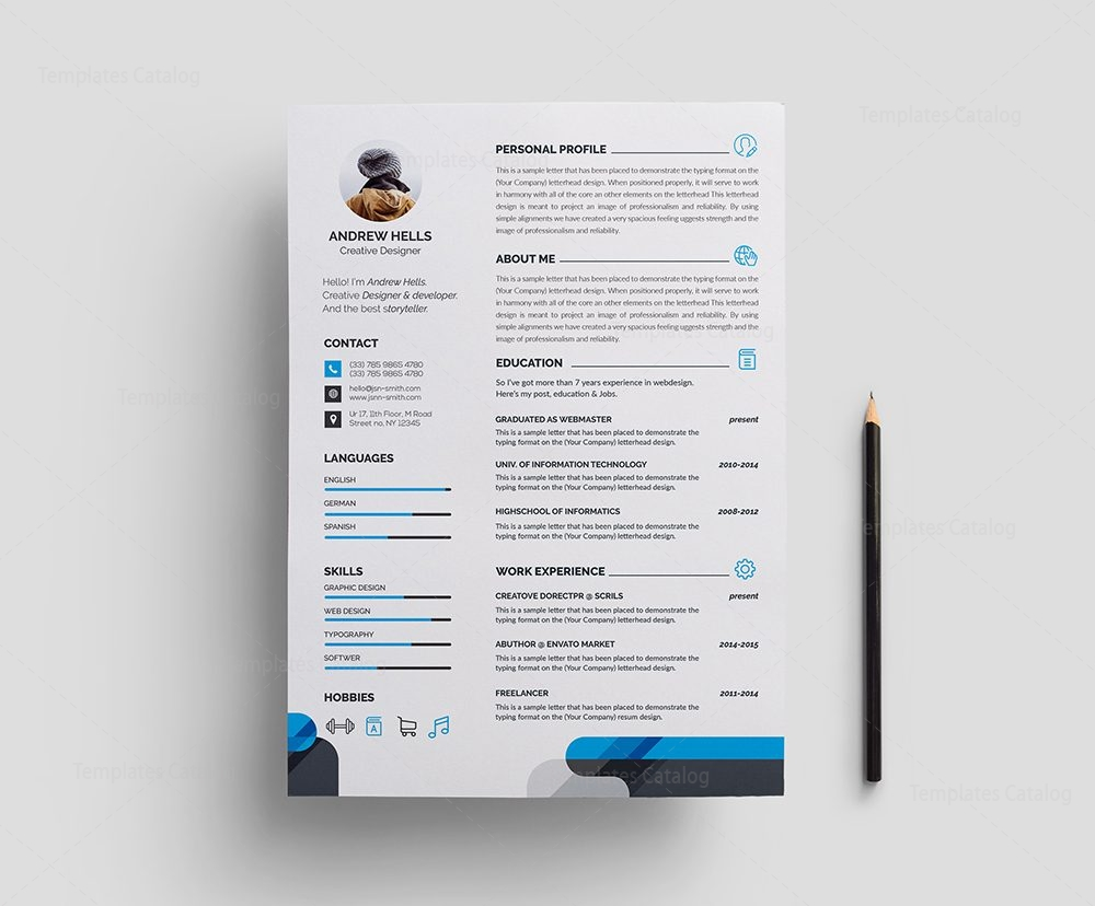 professional resume sample Stylish Professional Resume Template