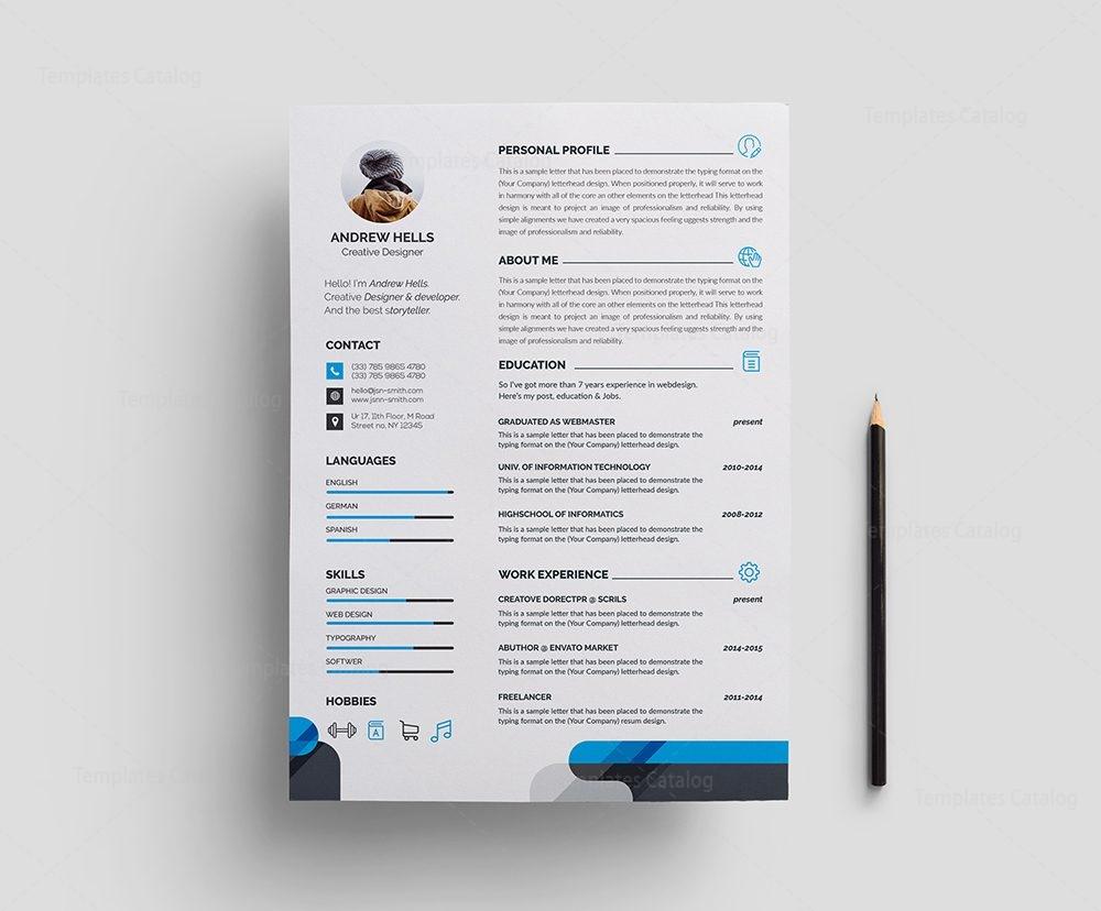 professional resume sample Stylish Professional Resume Template