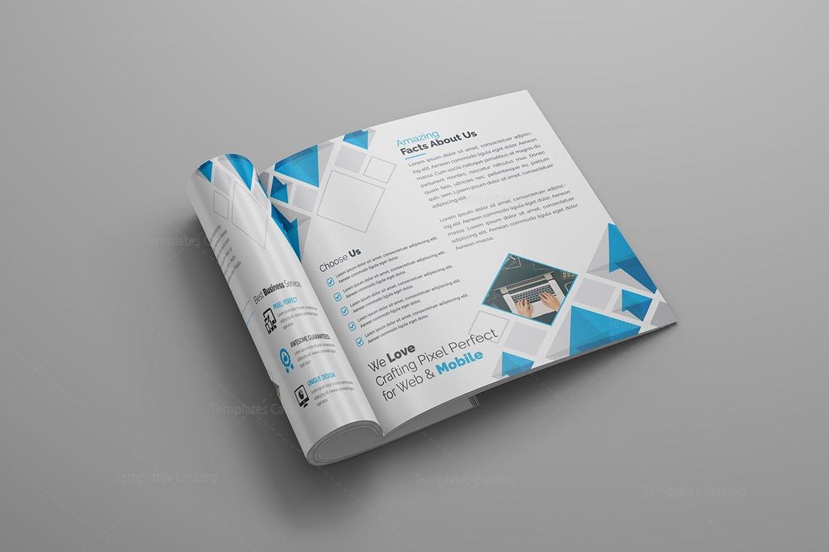 Supernova premium square bi fold brochure template 000805 for One fold brochure template