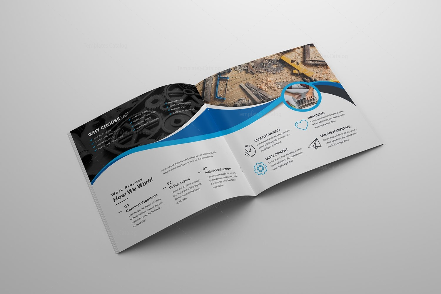 technology company brochure template 2
