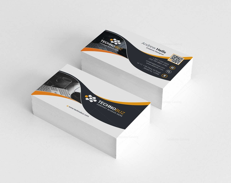 technology premium business card template 000737