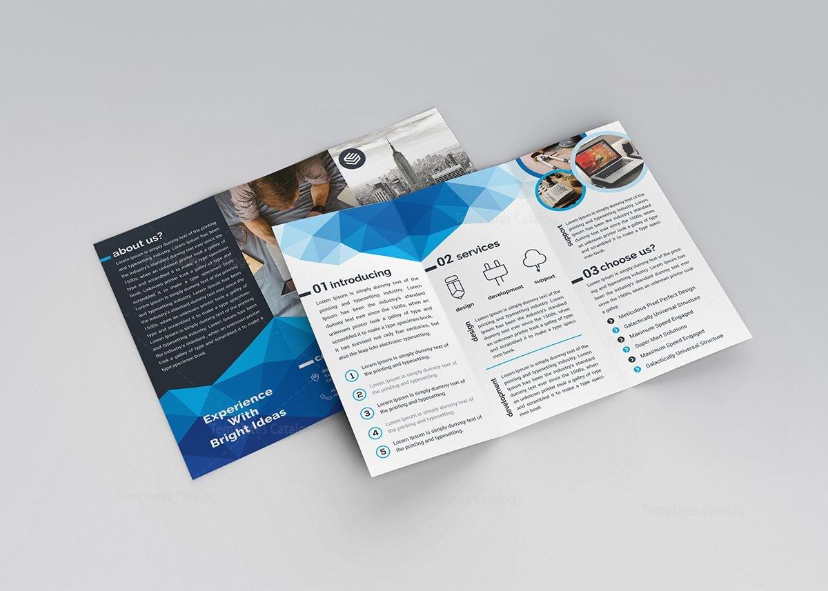 two fold brochure template