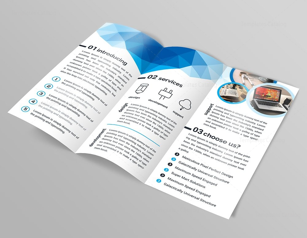 3 part brochure template